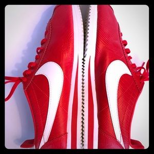 Nike Cortez Red and White Sneakers